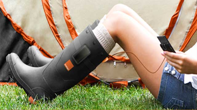 orange power wellies charger