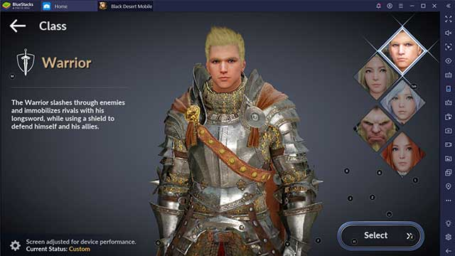 class warrior black desert mobile