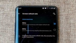 screen fresh rate