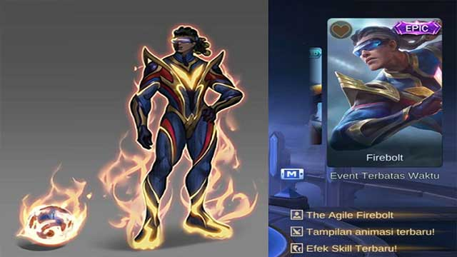 skin firebolt bruno mobile legends